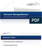 DecisionMaking LeadDiscussion GeneratingAndEvaluatingAlternatives PPT