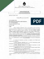 Oficio Direccion Nacional Del SPF