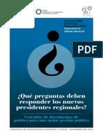 Qué Preguntas Deben Responder Los Nuevos Presidentes Regionales
