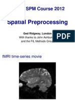 Spatial Preprocessing in fMRI images