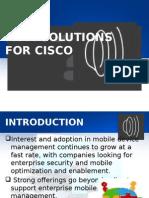 Mdm Solution for Cisco