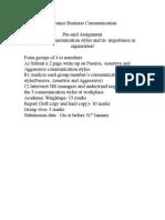 Advance Business Communication, pre mid project.doc