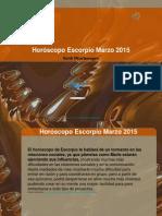 Horóscopo Escorpio Marzo 2015
