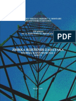 Zbirka Zadataka, Teorija Konstrukcija 1, Rasid Hadzovic DL