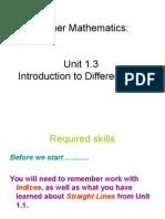 Higher Maths 1.3