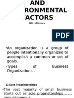 Organization and Environmental Factors