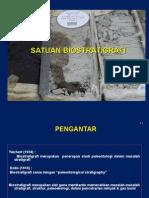 Kuliah 4. Pengantar Satuan Biostratigrafi