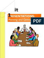 Unit 1 - Presentations (Planning and Getting Started)
