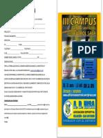Boletín de Inscripción Campus Semana Santa 2015