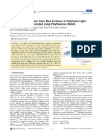 Tuning Emission Colors From Blue to Green in Polymeric Light-Emitting Diodes Fabricated Using Polyfluorene Blends