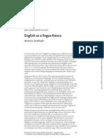English as a Lingua Franca - Seidlhofer