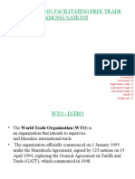 Role of Wto in Facilitating Free Trade Among