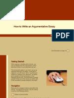 how to write an argumentative essay tutorial