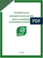 Propuestas Ambientales Para Las Proximas Elecciones Municipales 2015 (Resumidas)