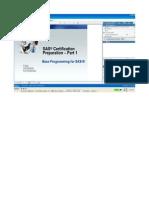 SAS Base Certification Preparatio Document_part 1