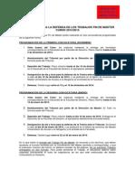 Calendario Defensa TFM 2014-2015