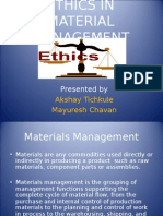 ethics in material management.ppt