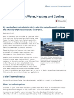 Solar Thermal or PV
