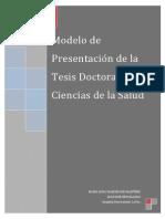 Modelo de Presentación de La Tesis Doctoral en Ciencias de La Salud 2015