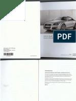 Audi TT, TTS, TTRS Coupé Owners Manual