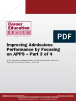 Improving Admissions Performance by Focusing on APPS Part 3 of 4