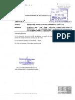 OFICIO N°19 APROBACION DE PLANES DE TRABAJO LOTE 1