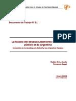 La falacia del desendeudamiento del sector público en la Argentina