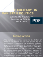 Role of Military in Pakistan Politics