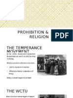 prohibition & religion