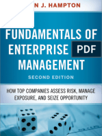 Fundamentals of Enterprise Risk Management 2nd Edition by John J. Hampton Table of Contents & Intro