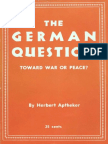 The German Question Toward War or Peace