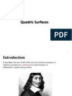 lecture 1 qaudric surfaces