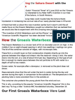 Greening & Restoring the Sahara Desert with the Groasis Waterboxx