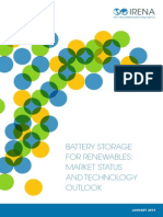 IRENA Battery Storage Report 2015