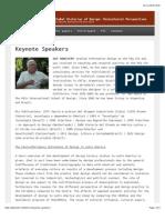 Keynote Speakers | DHS-NID 2013