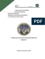 ESTADO FLUJO DE EFECTIVO METODO DIRECTO E INDIRECTO