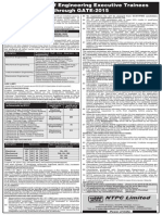Recruitment of Engineering Executive Trainees