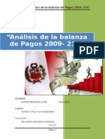 Analisis Balanza de Pagos peruana 2009 2014- Presentacion EDGAR MENDOZA LUGO