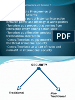 International relation of terrorism