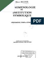 Richir, Marc - Phénoménologie Et Institution Symbolique