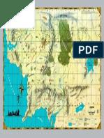 El Señor de Los Anillos - Atlas Del Noroeste de La Tierra Media- Mapa