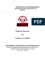 University Institute of Technology (UIT), RGPV, Bhopal, Faculty-2005