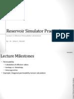 Lecture 5 Reservoir Sim Practical