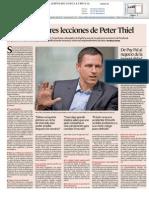 Las diez mejores lecciones de Peter Thiel