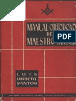 Manual Ortodoxo Del Maestro Mason