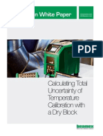 Beamex White Paper - Calculating Total Uncertainty of Temperature Calibration With a Dry Block