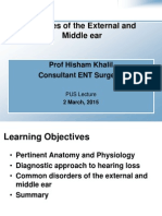 diseases of the external and middle ear