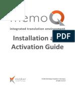 MemoQ InstallingActivating 7 0 En