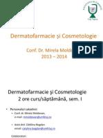 Curs 1 Dermatofarmacie Si Cosmetologie 2013 2014