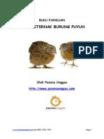 Buku Panduan Cara Beternak Burung Puyuh